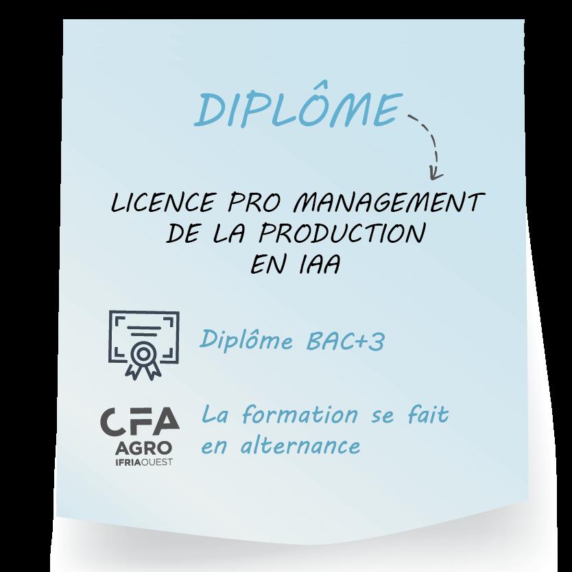 offre de formation licence pro Management